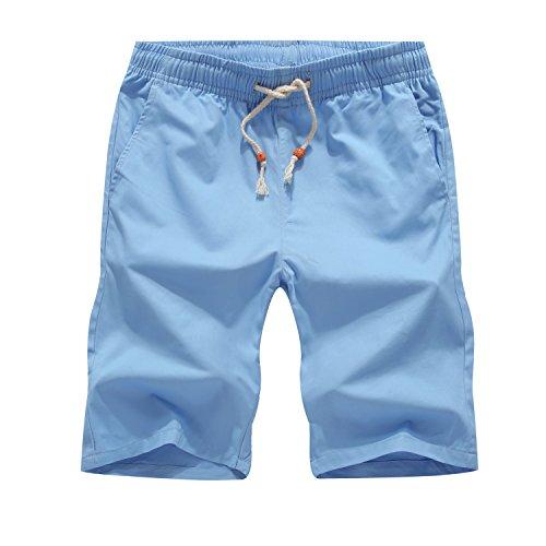 Kurze Hosen Herren Drawstring Baumwolle Sommer Shorts Bermuda Sportshorts (Drawstring Shorts Baumwolle)