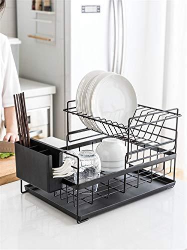 WEMUR Doppelschicht-Trockengeschirr Geschirr Geschirrgestelle Küchenablage Regale