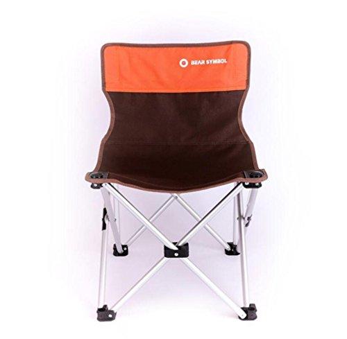 TTYY Chaise Pliante en Plein air Lune Chaise extérieure Pique-Nique Camping pêche Barbecue Plage, Orange
