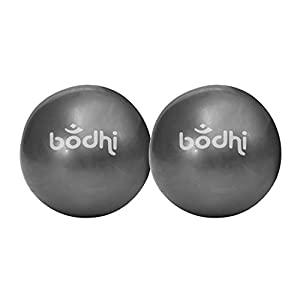 Pilates Toning Ball, 2er Set, je 0,5 kg, Ø 12 cm, anthrazit