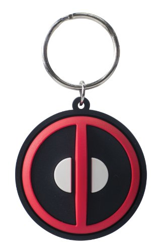 Monogram - Marvel Deadpool Logo Laser Cut Rubber Portachiavi
