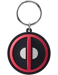 Marvel Deadpool Logo Cut Laser Llavero de goma