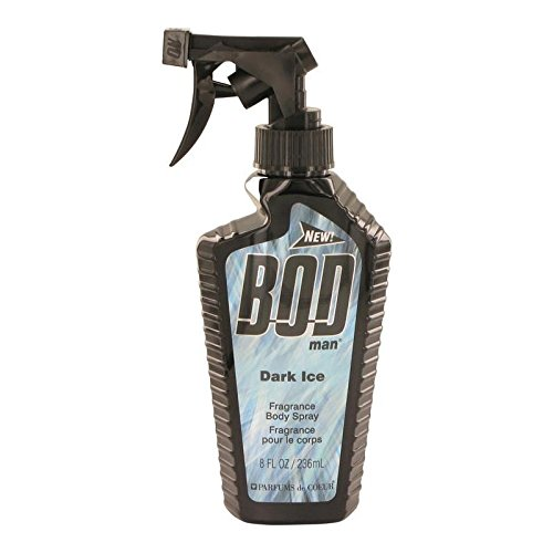 Bod Man Dark Ice by Parfums De Coeur - Body Spray 8 oz by Parfums de Coeur