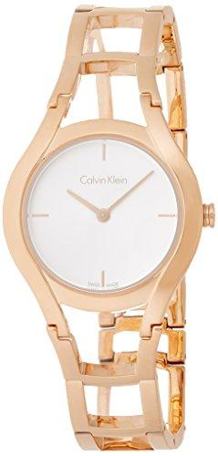 Calvin Klein Femme Analogique Quartz Montre avec Bracelet en Acier Inoxydable K6R23626