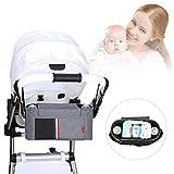 iBellete Organiser per passeggino, borsa impermeabile Oxford madre e bambino prodotti infantile trasporto borsa mamma