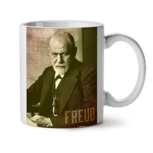 Wellcoda Berühmtheit Sigmund Freud Keramiktasse, Berühmt - 11 oz Tasse - Großer, Easy-Grip-Griff, Zwei-seitiger Druck, Ideal für Kaffee- und Teetrinker (Österreich Moderne Kostüm)