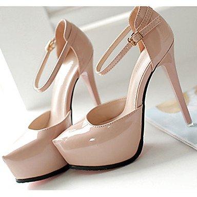 Moda Donna Sandali Sexy donna caduta tacchi Comfort PU Casual Stiletto Heel fibbia nero / rosa / rosso / bianco / grigio altri White