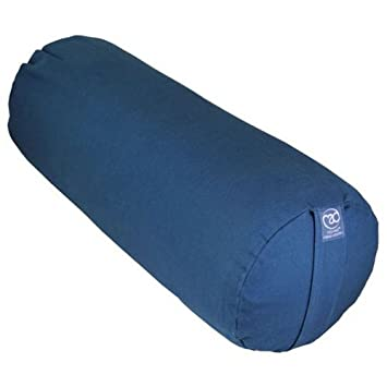 yogamad organic cotton yoga bolster blue for relaxation and stretching - Yoga Bolster
