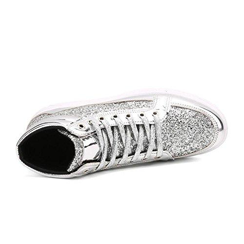 Scarpe da skateboard scarpe sportive Scarpe da corsa maschi impermeabile della Assorbimento degli urti traspirante Sport all'aria aperta Fatto a mano Usura antiscivolo White