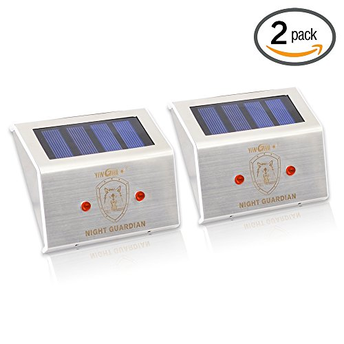 Solar Powered LED Predator Deterrent Light/ Pest Repellent and Control/ Guards Against Nocturnal Wild Animals/ Closely Protects Your Enclosure/ Auto-on at Dusk and Auto-off by Day/ Farm Garden Pasture Orchard Corral Chicken Coop Light/ 2 Pack Test