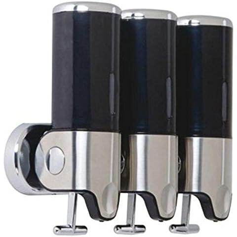 OOFAY YSPJ ® Multifunción presión acero inoxidable tres líquido dispensador de jabón de jabón líquida y loción , Black