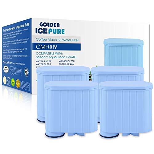 Kaffeevollautomat Wasserfilter kompatibel mit Saeco AquaClean CA6903/00 CA6903/01 CA6903/99 CA6903 CA6707 Kalkfilter, Aqua Clean Filterpatrone 4 stück von GOLDEN ICEPURE (rechnung vorhanden)