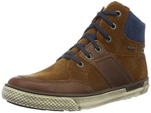 Superfit LUKE 700208, Jungen Hohe Sneakers, Blau (NIAGARA KOMBI 94) Braun (MUSKAT KOMBI 24)