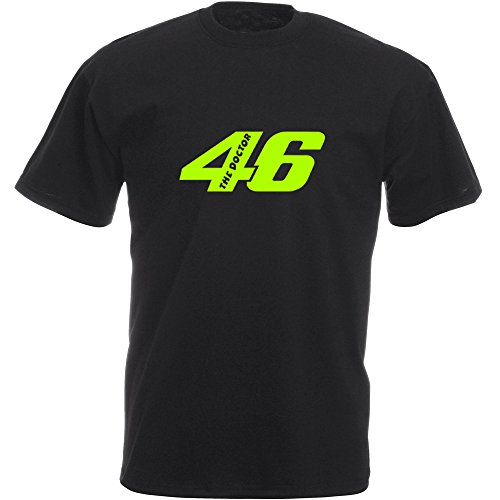 "'Camiseta Valentino Rossi: 46The Doctor Inside "" negro M"