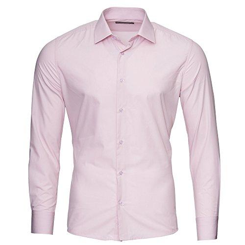 Kickdown -  Camicia classiche  - Uomo Pink