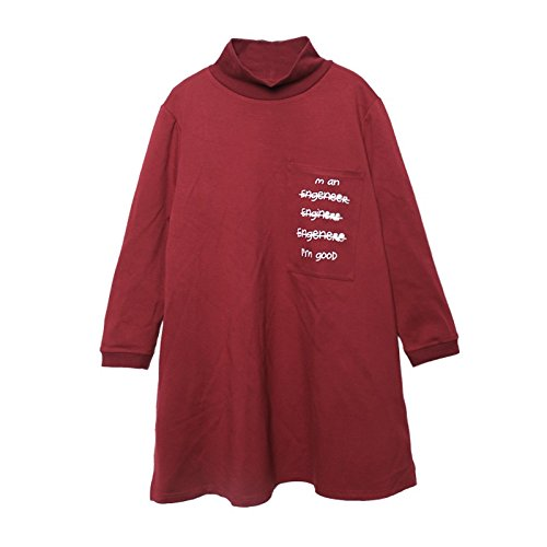 Xing Lin Felpa Con Cappuccio Per Uomo E Donna Maglietta Della Maglietta Del Maglione Della Stampa Della Lettera Del Collo Alto Delle Donne Di Grandi Dimensioni Larghe Allentate red