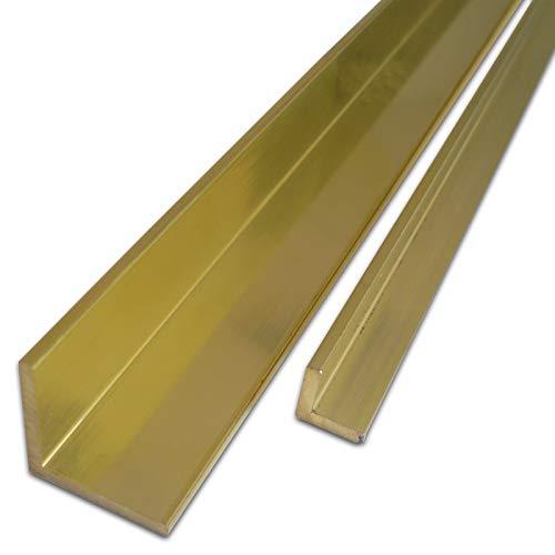 B&T Metall Messing Winkel 15 x 15 x 2 mm aus CuZn39Pb3 (Ms58) Länge ca. 1 mtr. (1000 mm +0/- 3 mm)