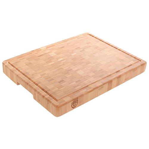 t groß aus Bambus mit Saftrille 40 x 30 cm ()