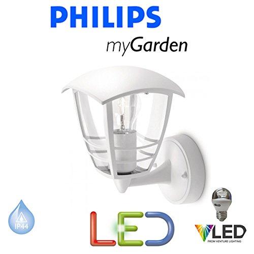 Philips Massive Mon Jardin d'éclairage LED Creek 5.9 W Blanc mur jusqu'à l'extérieur Lanterne Lampe LED – Lumière – Lumière – économie d'énergie – Design Moderne – Sts