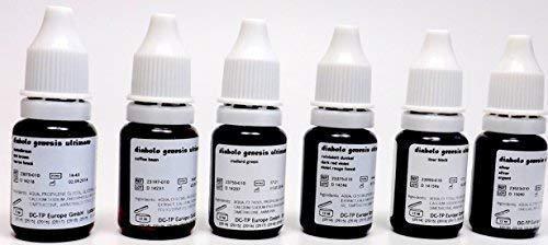 DIABOLO GENESIS Farbset 11 DUNKLE FARBEN 6x10ml incl. Schwarz - deutsche Tattoofarbe mit Zertifikat - INKgrafiX® IG05755 Tattoo INK Dark
