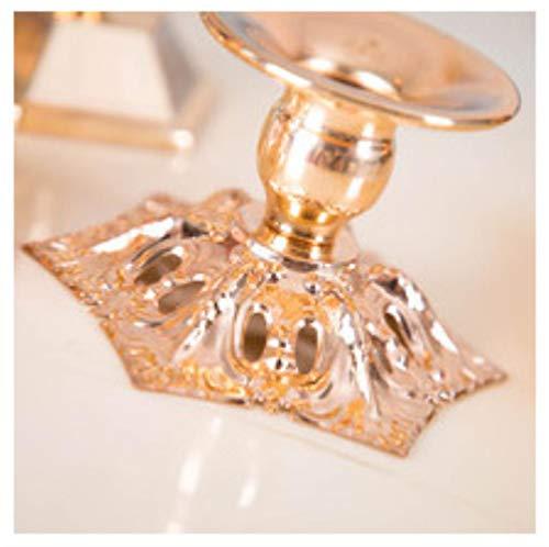 Whrp-sculpture decorazione metallo regalo portacandele di natale candeliere in ferro battuto dorato candeliere romantico europeo home festival centrotavola matrimonio decor, 3