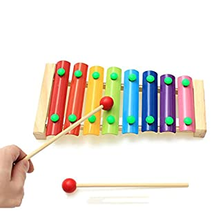 8 Note Xylophone ANGGO Musical Xylophon Klavier Holz Instrument Kinder Bildung Baby Musikinstrument Spielzeug für Kinder Weisheit Entwicklung