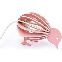 Pájaro lámpara de madera para niños DIY