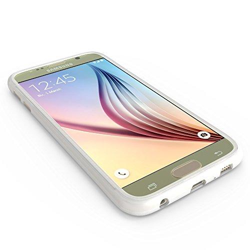 youcase - Samsung Galaxy S6 Touch Case TPU-Schutz-Hülle mit Schutzfolie Displayfolie Outdoor Smart Cover Tasche Etui Silikon transparent