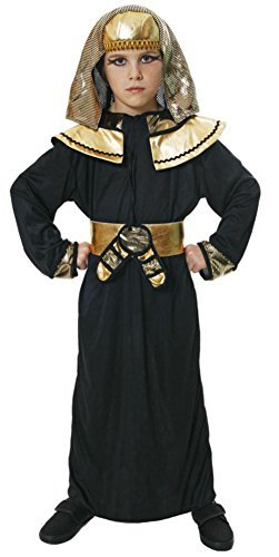 Boys Black Egyptian Pharaoh Fancy Dress Costume for Childrens School National Dress Up Outfit 7-9 Years by Partypackage (Dress Children's Kostüme National)
