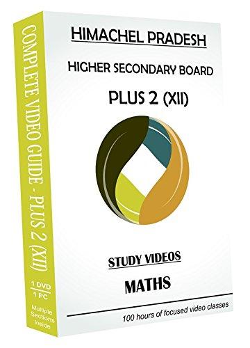 AVNS INDIA Himachel Pradesh Higher Secondary Plus 2 (Class XII) - Maths Full Syllabus Teaching Video (DVD)