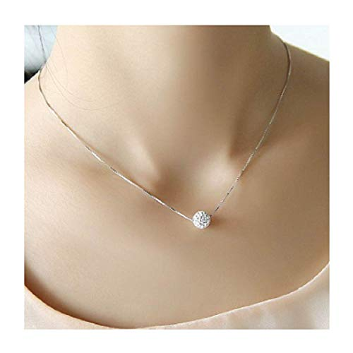 Silberne klassische Halskette für Damen, kurzes Design, elegant -