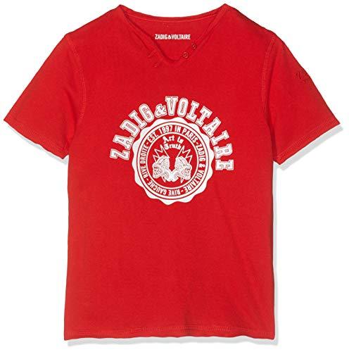 ZADIG&VOLTAIRE T- Shirt COL Tunisien, Garçon, (Rouge Vif 997), 6 Ans (Taille Fabricant:06A)
