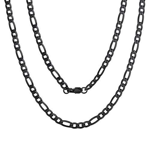 ChainsPro Herren-Kette aus 316L,925 Silber Schwarz, ideal als Geschenk für Mann oder Freund, mit Schmuckbox
