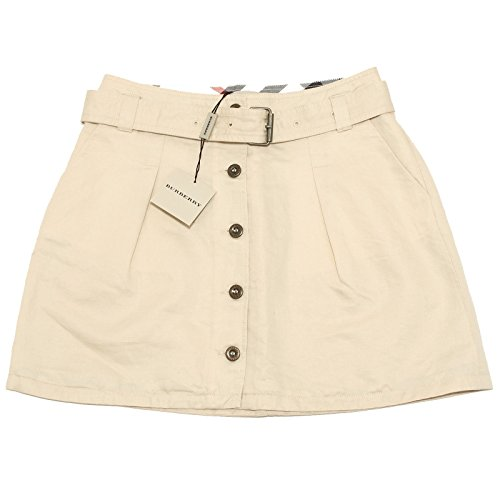 0417H gonna bimba BURBERRY lino cotone gonne skirts segunda mano  Se entrega en toda España