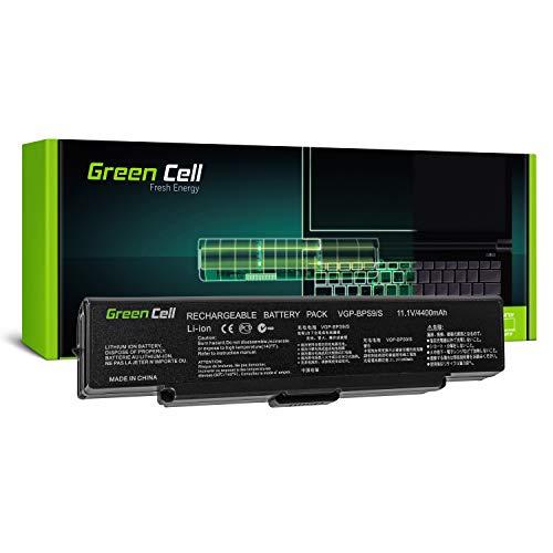 Green Cell Standard Serie VGP-BPS9 VGP-BPS9A VGP-BPS9B VGP-BPS9S VGP-BPS10 Laptop Akku für Sony Vaio VGN-CR VGN-NR PCG-7113M PCG-7121M PCG-7131M PCG-7133L PCG-7134M (6 Zellen 4400mAh 11.1V Schwarz)