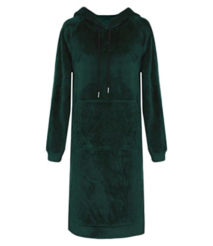 Kleider Damen Winterwear Damen Samt Mit Langen Ärmeln Overknee Skirts Schulmädchen,DarkGreen-L/170