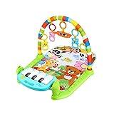 Trifycore Baby-Game Pad Musik-Tätigkeits-Gymnastik-Spieldecke Kriechende Matte Bildung Decke Activity Fitness Spielzeug Kick-Piano-Licht-Ton-Baby-Regenbogen-Farb 1 Set