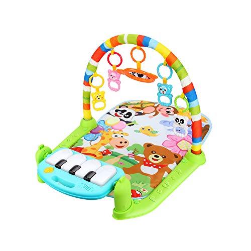 Trifycore Baby-Game Pad Musik-Tätigkeits-Gymnastik-Spieldecke Kriechende Matte Bildung Decke Activity Fitness Spielzeug Kick-Piano-Licht-Ton-Baby-Regenbogen-Farb 1 Set (Monitor Baby Activity)