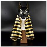 Máscara YN Dios patrono Egipcio, el Dios de la Muerte, Anubis, presentación de Masquerade, pañuelo en la Cabeza