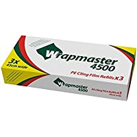 Wrapmaster 31C81Frischhaltefolie Refill, 45,7cm CLEAR (3Stück)