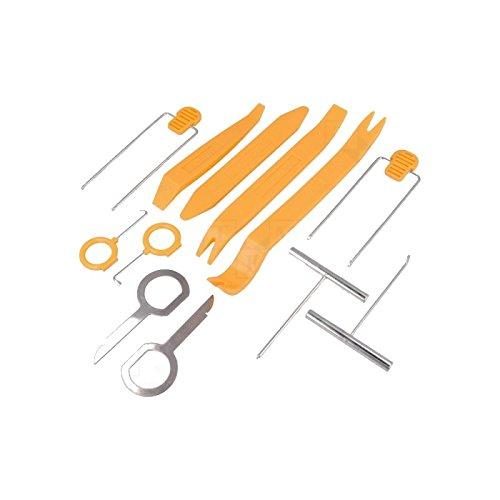 Set Kit Professionale Leve Attrezzi Smontaggio Rimozione Autoradio Cruscotto 12 Pz
