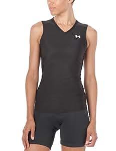 Under Armour Ua Heatgear Sleeveless T Tee Shirt Fitness et Musculation Femme Noir, Blanc S