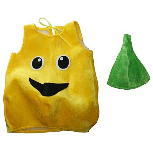Hellery Halloween Party Gelb Obst Birne Kostüm Hut Kinder Unisex Kostüm Requisiten