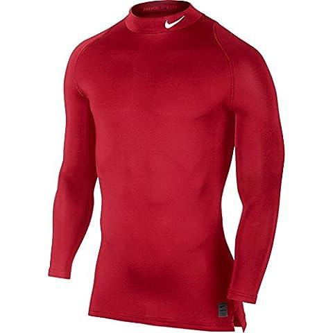 Nike M NP Comp LS Crw T-shirt für Herren, Rot (University Netz / Gym Netz / White), 2XL