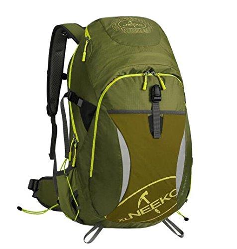 Spalle alpinismo uomini e donne esterni borse 40L viaggi trekking zaino ( Colore : Nero , dimensioni : 40L ) Army Green