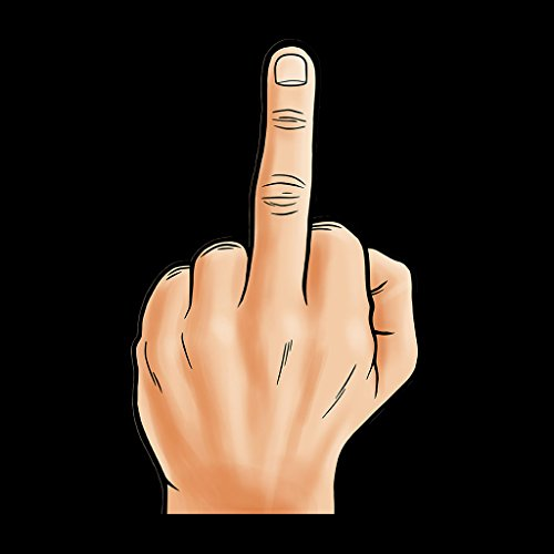 Hand Giving The Finger Women's Vest Black