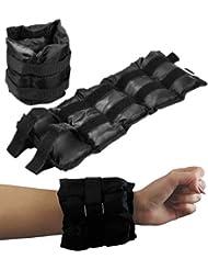 BodyRip 2 x 1 kg de poids ajustables et sangles de poignet et cheville
