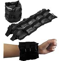 BodyRip Wrist/Ankle Weights Sand Bags - Black, 2 x 2 kg