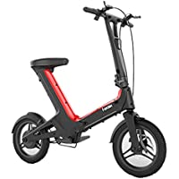 LETFF Bicicleta Eléctrica Plegable Elegante 14 Pulgadas, Mini Vespa Eléctrica Plegable Ultra Clara De Las