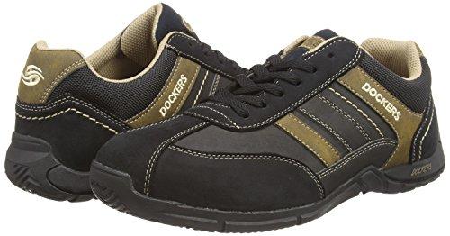 Dockers by Gerli 30HH026, Chaussures de sports extérieurs homme Noir (Schwarz/Stone 142)